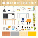 Build kit 1 office furniture Royalty Free Stock Photography