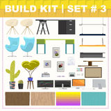 Build kit 3 office furniture Stock Images