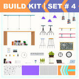Build kit 4 office furniture Royalty Free Stock Images