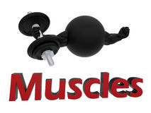 Build muscles concept Stock Images