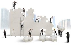 Build a new company Stock Images