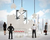 Build a new company Stock Image