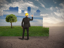 Build a new world. With environment respect royalty free stock photos
