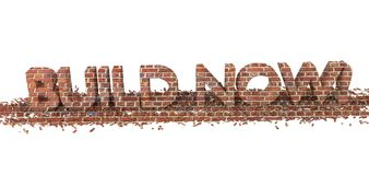 Build Now Royalty Free Stock Images