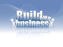 Build own business background. Build own business label on a blue background Royalty Free Stock Photography