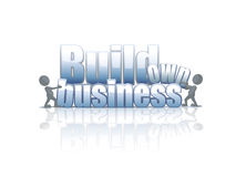 Build own business background. Build own business label on a white background Stock Photo