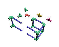 Build a plastic lattice 3D Royalty Free Stock Photo