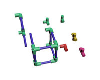 Build a plastic lattice 3D Royalty Free Stock Images