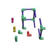 Build a plastic lattice 3D Stock Photos