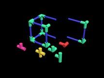 Build a plastic lattice 3D Stock Image