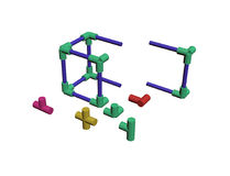 Build a plastic lattice 3D Stock Photography