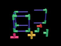 Build a plastic lattice 3D Royalty Free Stock Image