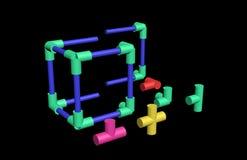 Build a plastic lattice 3D Royalty Free Stock Photos