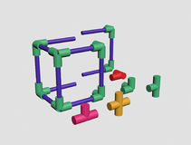 Build a plastic lattice 3D Royalty Free Stock Photography