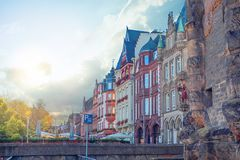 Build and Porta Nigra in Trier, Rhineland-Palatinate, Germany.  stock images