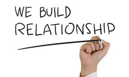 We Build Relationship, Concept Typography Royalty Free Stock Photos