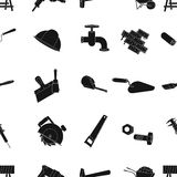 Build and repair pattern icons in black style. Big collection of build and repair vector symbol stock illustration. Build and repair pattern icons in black Royalty Free Stock Photo