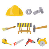 Build and repair set icons in cartoon style. Big collection of build and repair vector symbol stock illustration Stock Photo