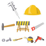 Build and repair set icons in cartoon style. Big collection of build and repair vector symbol stock illustration Stock Photos