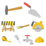 Build and repair set icons in cartoon style  Stock Photography