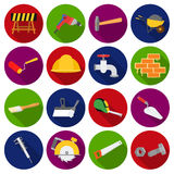 Build and repair set icons in flat style. Big collection of build and repair vector symbol stock illustration Royalty Free Stock Photography