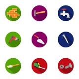 Build and repair set icons in flat style. Big collection of build and repair vector symbol stock illustration Royalty Free Stock Photos
