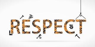 Build respect. Construction site concept vector illustration stock illustration