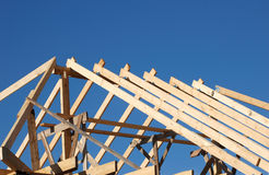 Build the roof. Building the roof from wood Royalty Free Stock Images