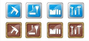 Build set buttons Royalty Free Stock Image