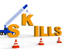 Build Skills Indicates Expertise Aptitude And Competence 3d Rendering Royalty Free Stock Photography
