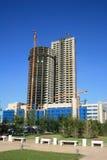 Build Skyscraper. In sky background Royalty Free Stock Photo