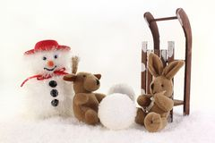 Build a snowman Stock Images