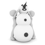 Build snowman Royalty Free Stock Photos