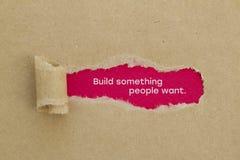 Build something people want stock photo