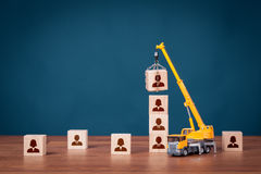 Build team - human resources concept Royalty Free Stock Image