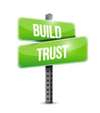 Build trust intersection road sign illustration Stock Photos