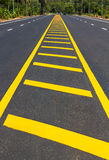 Build yellow line road split Royalty Free Stock Image