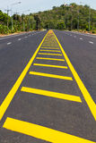 Build yellow line road split Royalty Free Stock Photos