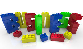 Build Your Business - Toy Blocks Form Word Royalty Free Stock Image