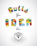 Build your idea here slogan template. Stock Photos