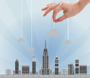 Build your skyline Royalty Free Stock Photo