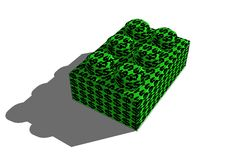 Build Your Wealth. A building block with dollar sign texture. High-rez render vector illustration