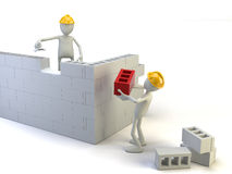 Builder. Character on the white background Stock Image