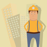 Builder. Vector illustration with a builder stock illustration