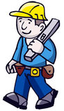 Builder. Workman Builder also in vector format Royalty Free Stock Images