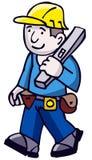 Builder. Workman Builder also in vector format stock illustration