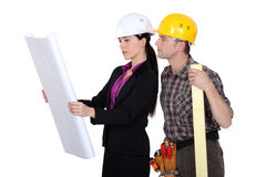Builder and architect Stock Image