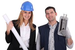 Builder and architect Stock Photography