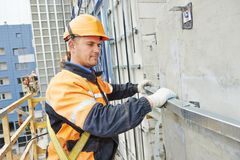 Free Builder At Facade Construction Work Stock Photo - 45214520