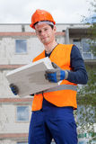 Builder with a brick Royalty Free Stock Photo